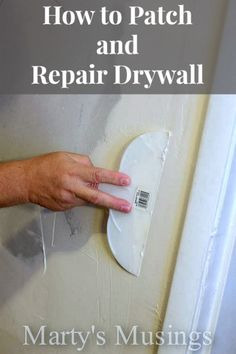 This tutorial from Marty's Musings will teach you how to patch and repair drywall and is a must read for those holes, gaps, openings and other imperfections needing repair.