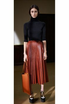 Celine leather skirt