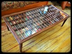 Handmade Walnut Shadow Box Curio Cabinet Coffee Table for Star Wars Figures Shadow Box Coffee Table, Coffee Box, Coffee Tables, Decoupage Coffee Table, Hinged Table, Camper Makeover, Displaying Collections, Display Case, Game Room
