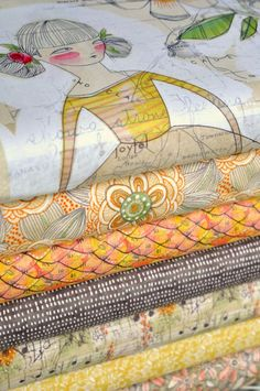 Girls in Bloom, fabric designed by Cori Dantini. image is courtesy of Hawthorne Threads Bundle