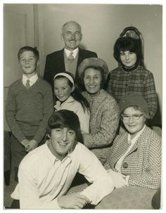 John Lennon with his aunt Mimi Smith and extended family