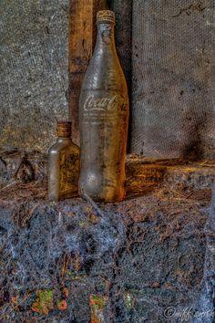 Urbex Coca-Cola cobwebs old vintage whisky explore photography
