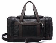 Leather Travel Bag With Side Pockets For Men | Zorket