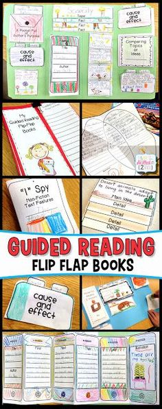 Guided Reading Flip Flap Books! Elementary Language Arts Activities. Simply Skilled in Second - A Teaching Blog for 2nd & 3rd Grade Teachers