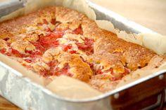 Kage med rabarber - bedste rabarberkage