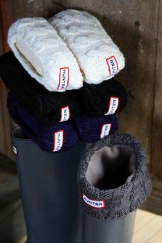 Cable Cuff Welly Sock - Hunter. I would buy these if they weren't $35! sheesh