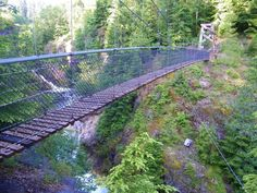 Dean Myerson This 125-foot long overpass near Mount Saint Helens can be found along the Lava Canyon Trail, which begins as an easygoing trail and becomes increasingly more difficult as it proceeds down a steep rugged canyon towards the unique swinging bridge! Have you been to any of these captivating places in our state before? Want to check any of them out?? Share your thoughts below! 39.5kSHARESSharePin It L...