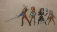 I made a Witcher 3 Cross Stitch! #TheWitcher3 #PS4 #WILDHUNT #PS4share #games #gaming #TheWitcher #TheWitcher3WildHunt