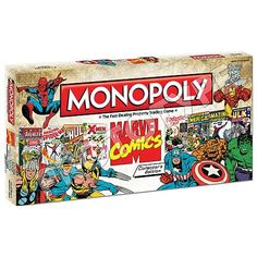 Marvel Comics Collector's Edition Monopoly Board Game. Want!!