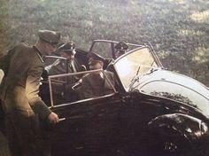 Adolf Hitler in a car with Heinrich Himmler