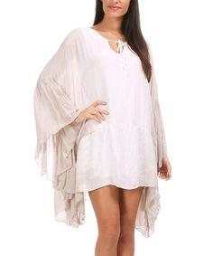 Look at this #zulilyfind! Beige & Ecru Aude Dress by Maille Girl #zulilyfinds