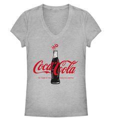 Coca Cola Junior's - 100 Years V Neck #fifthsun #cocacola #coke