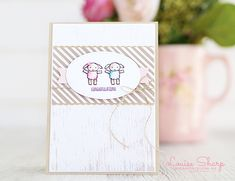 Louise Sharp: Be Inspired Design Team Hop Kids Cards, Baby Cards, Twin Babies, Baby Twins, Baby Congratulations Card, Baby Next, How To Have Twins, Beautiful Handmade Cards, Stampin Up Cards