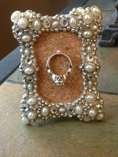 "Frame Ring Holder; Etsy, $17.99 ...not really a wedding idea but this screamed ""Sarah!""at me when I saw it! :) @Sarah Chintomby Chintomby Chintomby Bradfield"