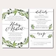 This listing is for a printable wedding invitation in a high resolution PDF format. This ready-to-print, personalized, digital wedding invitation