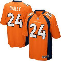 Nike Limited Nike NFL Men's Denver Broncos #24 Champ Bailey Team Color Orange NFL Jersey$89.99