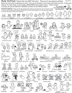 Outline Bodies 1 from Pen At Hand - Stick Figure Products by Ronnie Horowitz