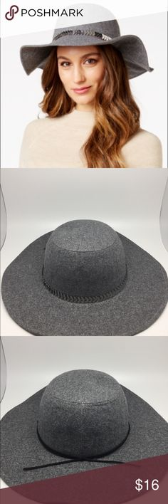 Inc International Concepts Chain Band Floppy Hat 🚨🚨🚨🚨PRICE DROP🚨🚨🚨🚨  This is the exact same item you will receive. Please see pictures for details. The first picture is a stock photo. Brand New with tags attached. Inc International Concepts Chain and Faux-Suede Band Floppy Hat. 66% polyester 25% Wool 9% other. Thanks for shopping my closet!! INC International Concepts Accessories Hats