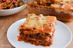 Slimming Eats Best Ever Low Syn Beef Lasagne - gluten free, vegetarian, Slimming World and Weight Watchers friendly
