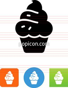 Cupcake Icon - Illustration from Popicon