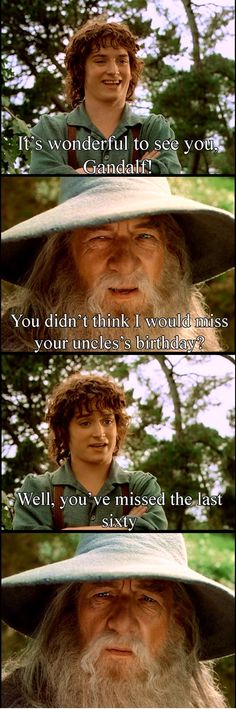 Frodo does have a point, there. Never really thought about it like that....
