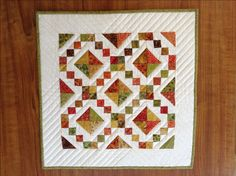 A personal favourite from my Etsy shop https://www.etsy.com/au/listing/224373893/mini-quilt-pattern-miniature-quilt