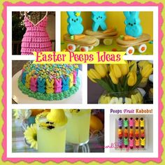 Easter Peeps Ideas, Easter peeps, Peeps Ideas, Peeps recipes, Decorating with Peeps, Easter Decor