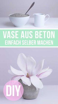 Beton Deko DIY | Eine Vase aus Beton ganz einfach selber machen - Anleitung - Geschenkidee Muttertag - Muttertagsgeschenke