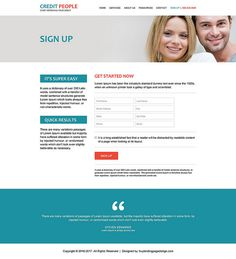 Professional And Clean Credit Repair Website Design Html Website - Credit repair website template