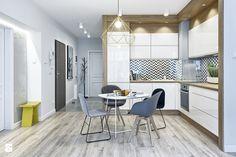 MIESZKANIE POKAZOWE NA OŁTASZYNIE - Średnia otwarta kuchnia w kształcie litery l, styl skandynawski - zdjęcie od Partner Design