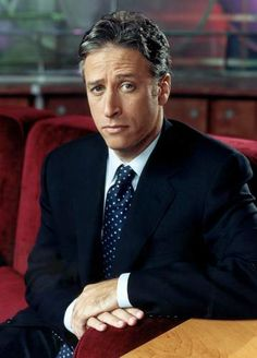 Jon Stewart ~ love him...not only cute to look at, but he's hilariously entertaining and brilliantly smart...