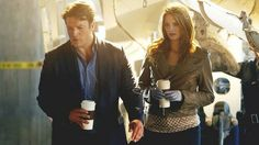 Castle and Beckett and coffee