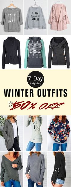 Up to 50% Off for Winter Outfits! Get them within 7-day Delivery Time. Update your wardrobe with unique pieces. You'll meet all kinds of outfits you want. Do not hesitate to wear one for holidays. View more at Cupshe.com
