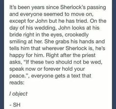 I wish this happened... but the wedding episode was beautiful too so I really don't know