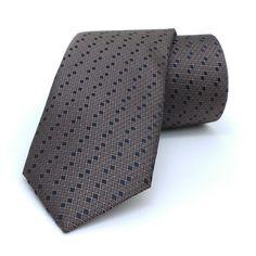 "Brown dotted men's tie 7 cm (2,76"") SL-333. Brown dotted men's necktie SL-333 Width : 7 cm (2,76"") Length : 150 cm (59,06"")."