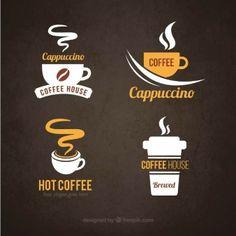 Logotipos do café Vetor grátis Logo Café, Cafe Logo, Free Logos, Cafeteria Retro, Logo Boutique, Vintage Coffee Shops, Coffee Shop Logo, Coffee Store, Restaurant Logo
