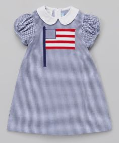 Look at this Monday's Child Blue Americana A-Line Dress - Toddler & Girls on #zulily today!