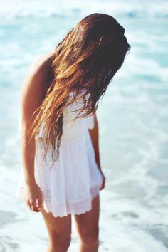 White Dresses On The Beach <3