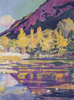 At the Foot of the Petit Saleve by Ferdinand Hodler, 1893