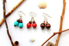 SET 3 wood earrings from Ranitasart Etsyshop (10% discount coupon PIN10)