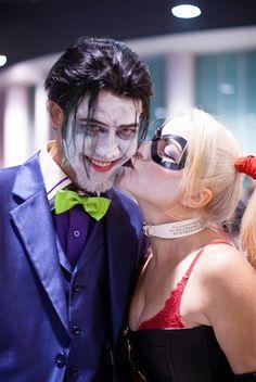 Harley Quinn and Joker Kissing | Harley Quinn Kissing the bearded Joker by ... | I Really Like Batman