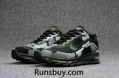 New Coming Nike Air Max 2017 8+ KPU Men Shoes Camo Green