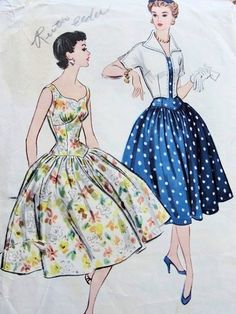 1950s LOVELY PARTY COCKTAIL DRESS, BOLERO JACKET PATTERN McCALLS 3270 PATTERNS