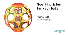 """Help me drop the price of the Oball Rainstick Rattle to $5.00 (72% off). The price continues dropping as more moms click """"Drop the price"""". Moms drop prices of kids & baby products by sharing them with each other."""