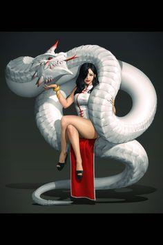 Dragon mistress, character inspiration for my Korean fantasy series Nine Tails Character Concept, Character Art, Concept Art, Character Design, Fantasy Artwork, Fantasy Girl, Dark Fantasy, Dragon Art, Shadowrun