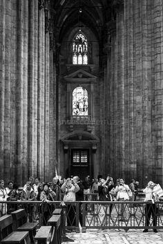 Duomo: l'interno #duomo #milano #fotografia #bw