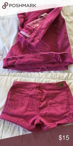 American Eagle Midi Shorts Pink midi shorts American Eagle Outfitters Shorts Jean Shorts