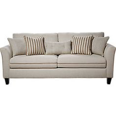 East Shore Cream 3 Pc Living Room - Living Room Sets