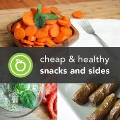 Healthy snacks to eat between meals and healthy sides to accompany them are essential to a healthy diet. Here are all the healthy snacks and sides our team and contributors have thought up to share with you.