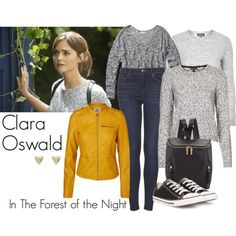 """Clara Oswald - In the Forest of the Night"" by ansleyclaire on Polyvore"